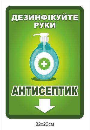 Антисептик табличка