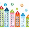 """Стенд """"Склад числа"""" кольорові домівки"""
